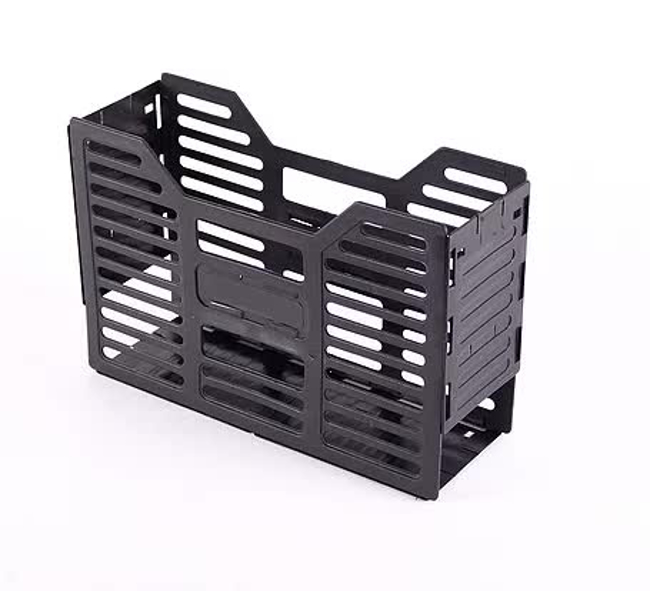 Picture of A4 Slated Plastic Filing Container - 32 x 10 x 22 cm - Black - Pack of 20 - 02SLPC-BL