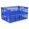 Picture of Freezer Stacking Crate - Plastic Box - Vented Base and Sides - 63.5 x 45.5 x 17 cm - Virgin Material - HACCP - PI-735-virgin