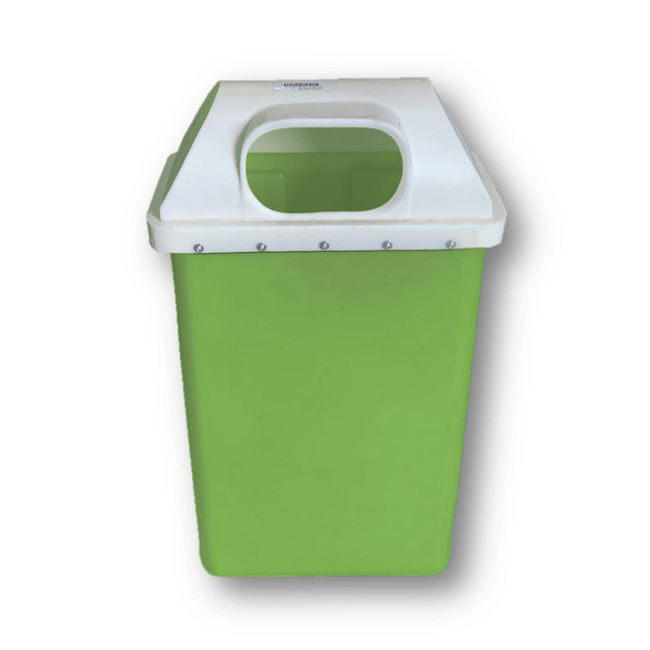 Picture of Recycle Bin with Lid - Plastic - 50L - 39 x 22 x 74 cm - LB005A