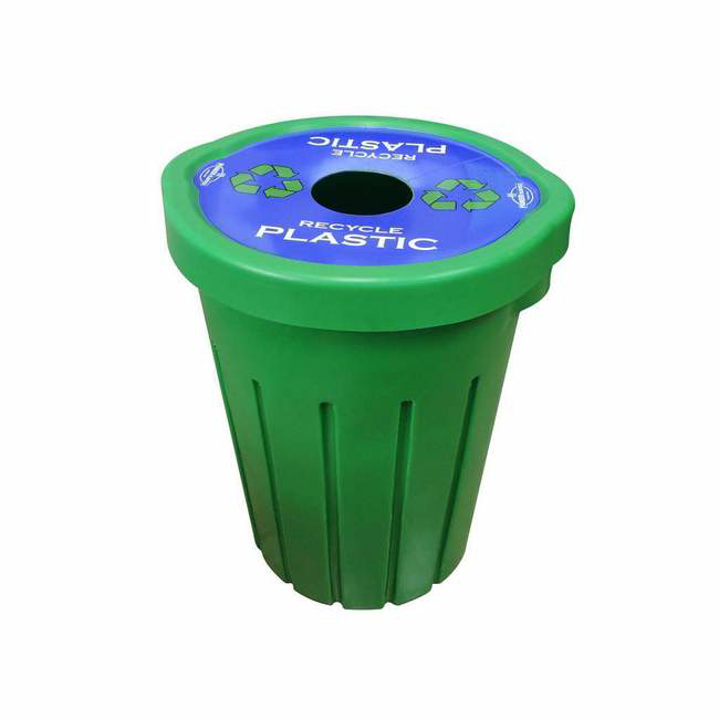 Picture of Refuse Recycle Bin with Flat Lid - One Hole - Plastic - 85L - LB081