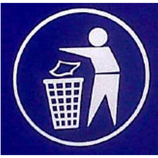 Picture of Sticker for Recycle Bin - Tidyman - 20 x 20 cm - LB050