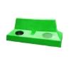 Picture of Wheelie Bin Hood - Plastic - Double - Suitable for 130L Bin - 118 x 53 x 44 cm - LB064