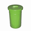 Picture of Recycle Bin with Lid - Round - Plastic - 50L - 32 (⌀) x 45 cm - LB067