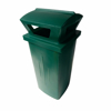 Picture of Litter Bin with Lid - Pavement - Plastic - 89L - 39 x 34 x 67 cm - LB032A