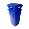 Picture of Litter Bin with Lid - Pavement - Plastic - 230L - 49 x 49 x 95 cm - LB033A