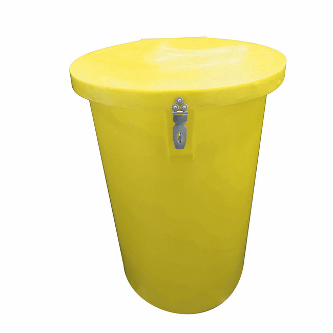Picture of Hazardous Medical Waste Bin - Plastic - 100L - 44 x 75 cm - PA003