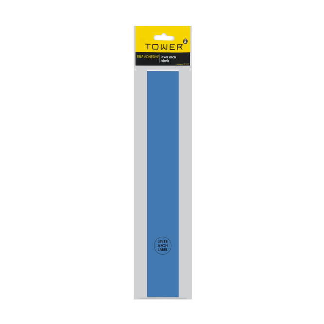 Picture of Lever Arch Narrow File Labels - 43 x 315mm - Blue - Pack of 12 - LANB12s