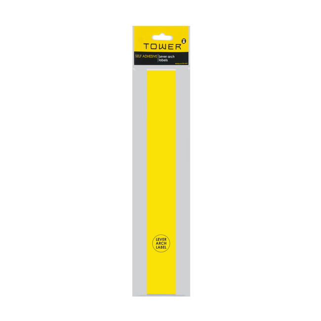 Picture of Lever Arch Narrow File Labels - 43 x 315mm - Yellow - Pack of 12 - LANY12s