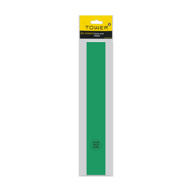 Picture of Lever Arch Narrow File Labels - 43 x 315mm - Green - Pack of 12 - LANG12s