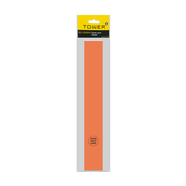 Picture of Lever Arch Narrow File Labels - 43 x 315mm - Orange - Pack of 12 - LANO12s