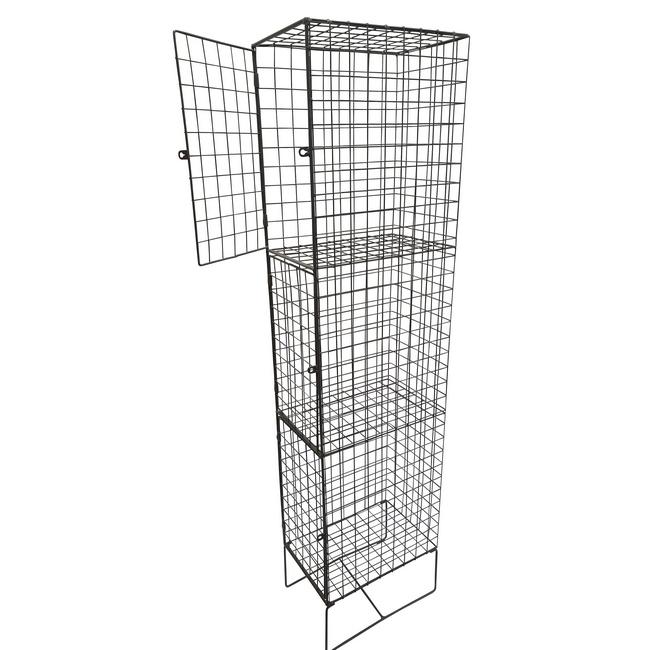 Picture of Wire Metal Locker - Steel Mesh - Single - 3 Doors - 3 Tier - 18-30-45-3