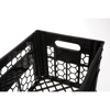 Picture of Milk Crate - Vented Base and Sides - Plastic Dairy Container - 43 x 33.5 x 30.5 cm - Recycled Material - Black - PI-200-black