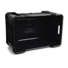 Picture of Stack Crate - Agri Lug - Plastic Box - Solid Base and Sides - 53 x 35.5 x 29 cm - Recycled Material - Black - PI-401-Solid-black