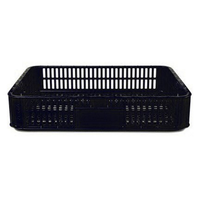 Picture of Slim Crate - Open Top - Live Bird - Vented - Plastic Crate - 74 x 53 x 15.5 cm - Recycled Material - Black - PI-LB10_slim-black