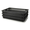 Picture of Vented Drying Crate - Plastic Box - Vented Sides and Base - 60 x 40 x 7.5 cm - Recycled Material - Black - PI-647-V-black