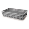 Picture of Vented Drying Crate - Plastic Box - Vented Sides and Base - 60 x 40 x 7.5 cm - Recycled Material - Grey - PI-647-V-grey