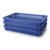 Picture of Vented Fruit Drying Crate - Plastic Box - Vented Base and Vented Sides - 60 x 40 x 7.5 cm - Virgin Material - HACCP - PI-647-V-virgin