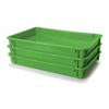 Picture of Stack Nest Crate - Plastic Box - Solid Sides and Base - 60 x 40 x 7.5 cm - Recycled Material - PI-647-S-stock