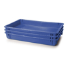 Picture of Stack Nest Butchery Crate - Fruit Drying Plastic Box - Solid Sides and Base - 60 x 40 x 7.5 cm - Virgin Material - HACCP - PI-647-S-virgin