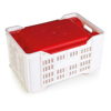 Picture of Lid for Meat Crate - PLI-PI-401 Agri Lug - 50 x 35.5 x 5.5 cm - Virgin Material - HACCP - PI-401-Lid-virgin
