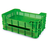 Picture of Stack Crate - Plastic Box - Solid Base and Vented Sides - 53 x 35.5 x 11.5 cm - Recycled Material - PI-430-SolidB-stock