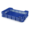 Picture of Berry Crate - Plastic Catering Box - Solid Base and Vented Sides - 53 x 35.5 x 11.5 cm - Virgin Material - HACCP - PI-430-SolidB-virgin
