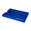 Picture of Folding Collapsible Crate - Plastic Box - Vented Base and Sides - 60 x 40 x 22.58 cm - 35L - Virgin Material - HACCP - PI-FC64-H225-virgin