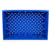 Picture of Folding Collapsible Crate - Plastic Box - Vented Base and Sides - 60 x 40 x 18 cm - 35L - Virgin Material - HACCP - PI-FC64-H180-virgin