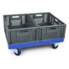 Picture of Plastic Dolly Trolley - Hygiene Deck - with Castors - 80 x 60 x 18 cm - Virgin Material - HACCP - PI-DT-86-virgin