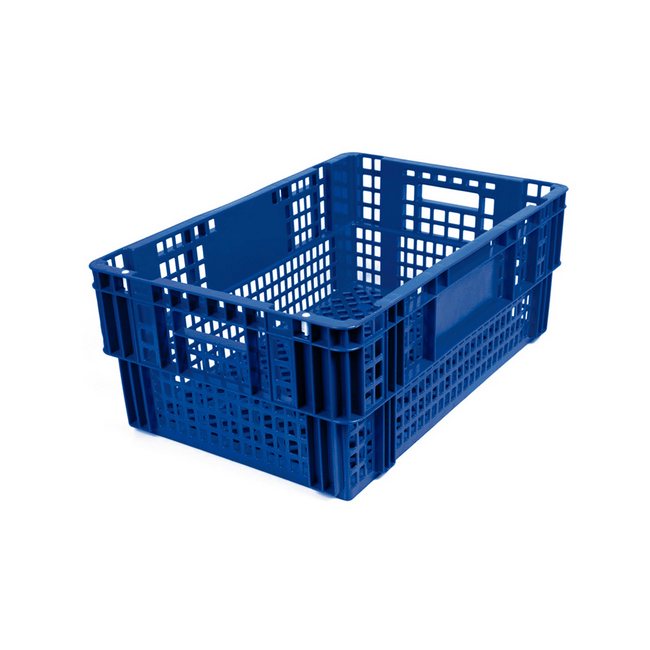 Picture of Nesting Meat Agri Crate - Plastic Agri Box - Vented Base and Sides - 60 x 40 x 24 cm - Virgin Material - HACCP - PI-720-virgin