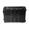 Picture of Inter-stacking Agri Crate - Plastic Box - Semi-vented Base and Vented Sides - 60 x 40 x 24 cm - Recycled Material - Black - PI-720B-IS-black