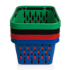 Picture of Shopping Basket - Plastic with Handle - 21L - 44 x 33.5 x 24 cm - Virgin Material - HACCP - PI-21-virgin