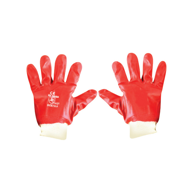 Picture of PVC Gloves -Wrist -  Red - TOOG726