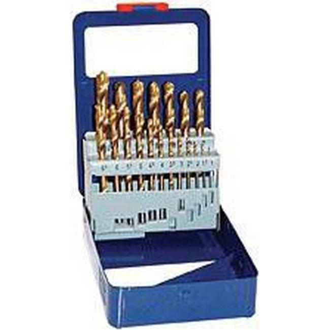 Picture of Drill Bit Set HSS - Titanium Coated - 19 Piece - TOOD418A