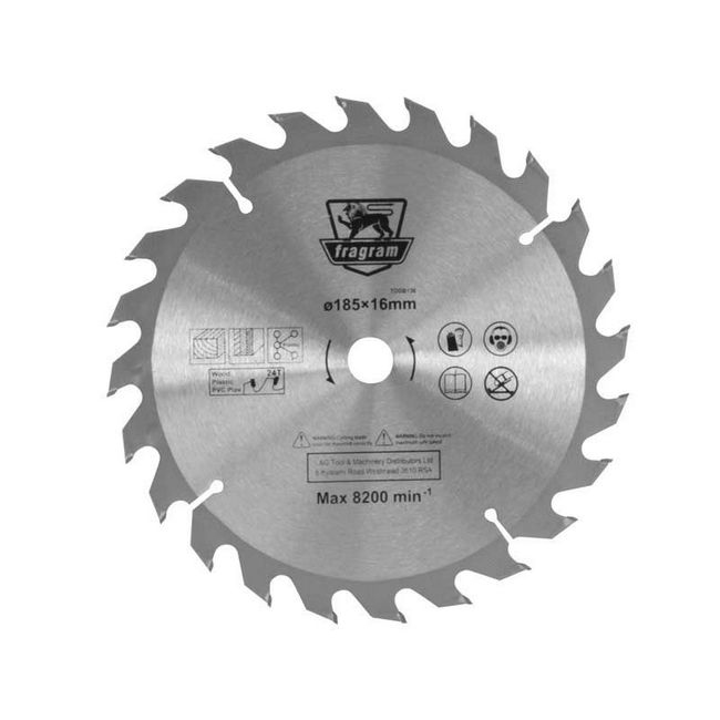 Picture of Wood Cutting Blade - Ø185mm x 16mm - 24T - TOOB136