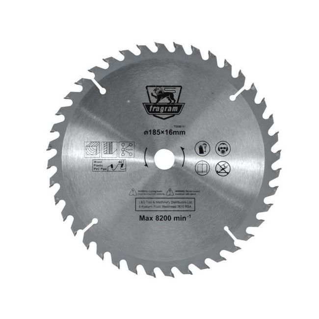 Picture of Wood Cutting Blade - Ø185mm x 16mm - 40T - TOOB137