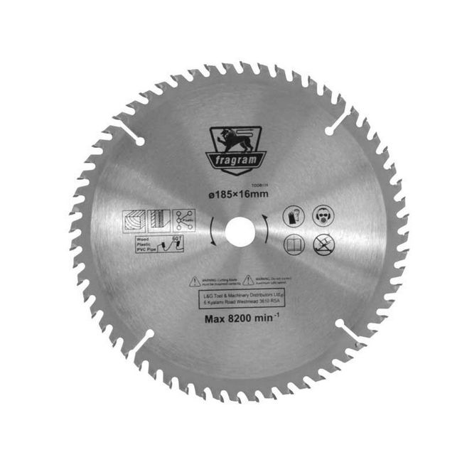 Picture of Wood Cutting Blade - Ø185mm x 16mm - 60T - TOOB138