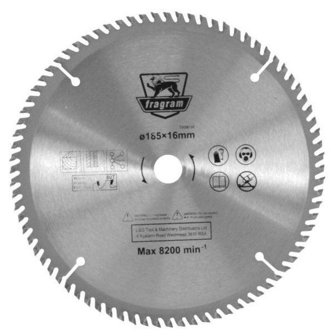 Picture of Wood Cutting Blade - Ø185mm x 16mm - 80T - TOOB139
