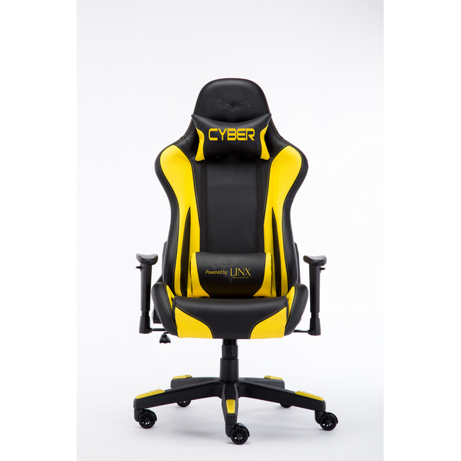 Picture of Gaming Chair - High Back - Cyber - Racing - 132 x 58 x 67 cm - Black And Yellow - RGC-9091