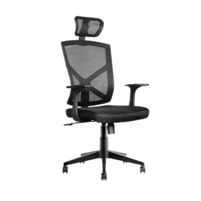 Picture of Operators Chair - High Back - Prince - 127 x 65 x 67 cm - Mesh - Black - QZY-1865