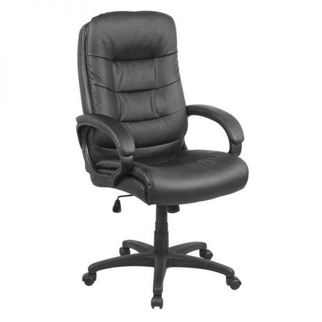 Picture of Office Chair - Mid-Back - Comfort - 118 x 57 x 66 cm - Faux Leather - Black - QY-2415-1