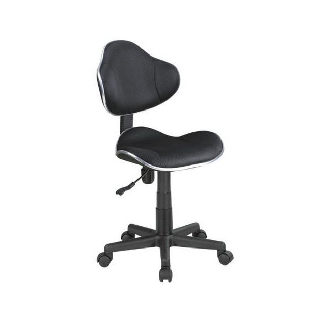 Picture of Typist Chair - Mid-Back - Ross - 89 x 51 x 53 cm - Fabric - Black - QZY-G2B