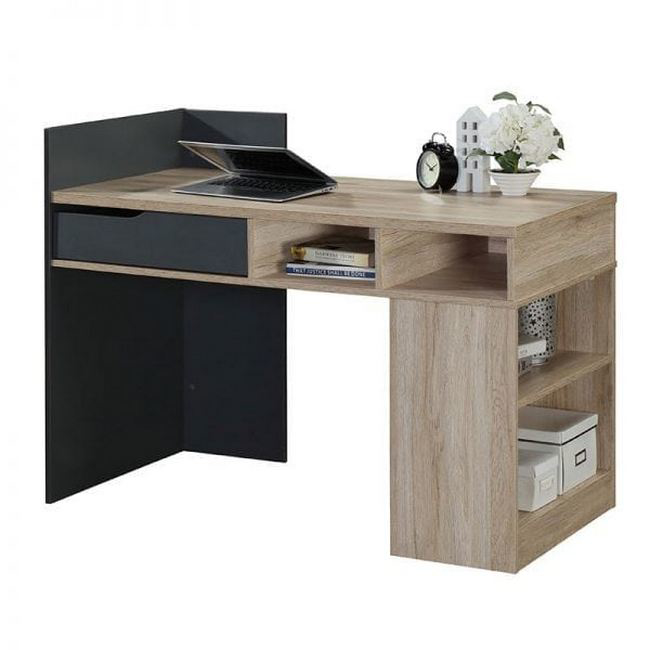 Picture of Office Desk - Ohio -  90 x 60 x 120 cm - Sanremo Oak and Dark Grey - CST 1100