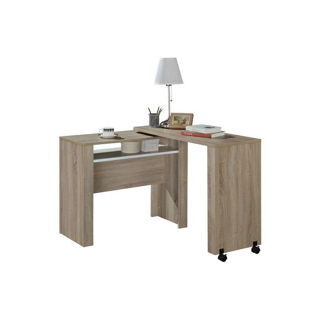 Picture of Office Desk - Mobile - Nevada - 77.8 x 40 x 105 cm - Sonoma Oak and White - CST 1190