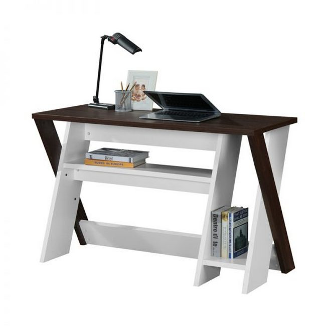 Picture of Office Desk - Indiana - 75 x 50 x 120 cm - Kingston Walnut and White - CST 1020