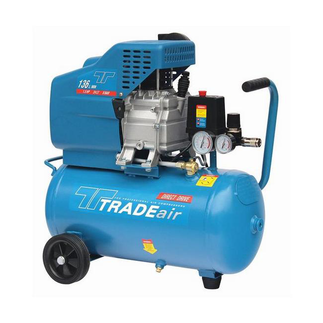 Picture of Compressor - Belt Drive - Lubricated - 24L - 1.1kW - 1.5HP - MCFRC100