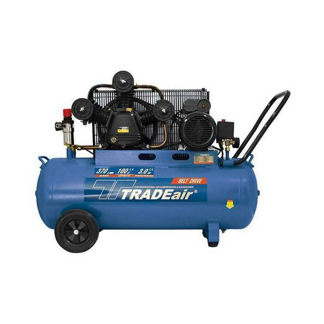 Picture of Compressor - Lubricated - Cast Iron - V Head - 100L - 2.2kW - 3HP - MCFRC227