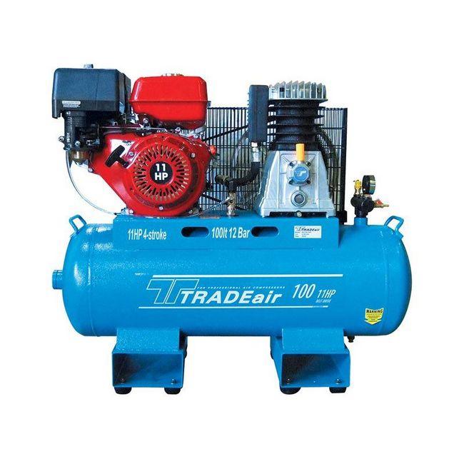 Picture of Compressor - Petrol Air - Belt Drive - 100L-  8.2kW - 4 Stroke - 11HP - MCFRC235