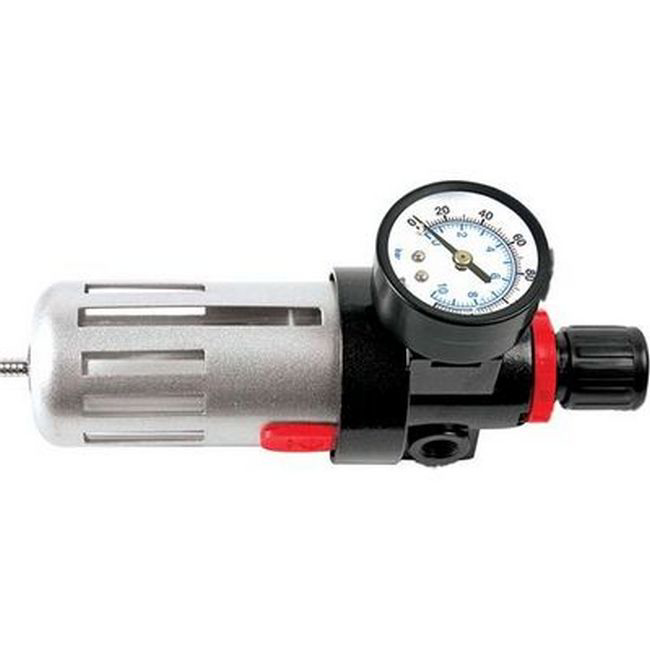 """Picture of Regulator and Water Trap Combo - 1/4"""" Pneumatic - TOOR1489"""