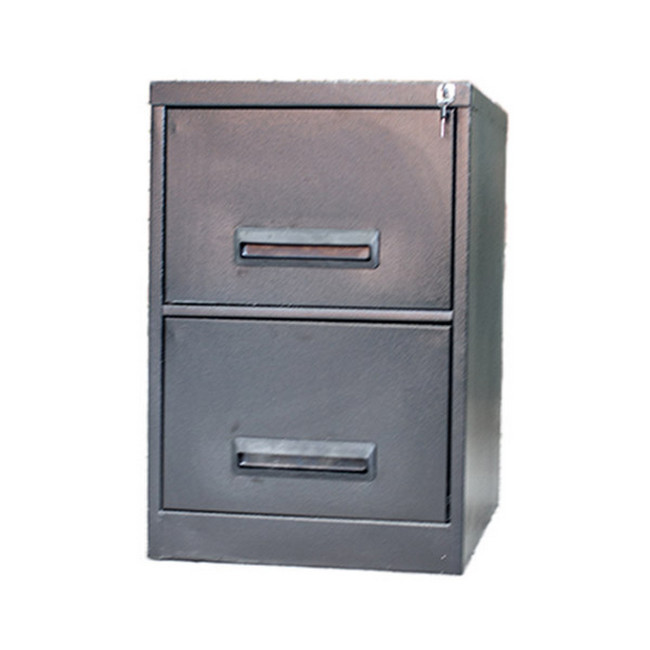 Picture of Steel Office Filing Cabinet - 2 Drawer File - Knock Down (Requires Assembly) - 71 x 47 x 63 cm - 2FC01KD-grey